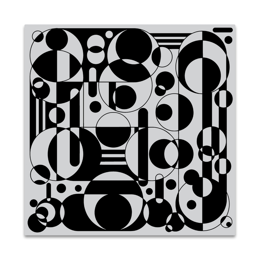 Hero Arts Cling Stamp CIRCLES AND CYLINDERS BOLD PRINTS CG841 zoom image