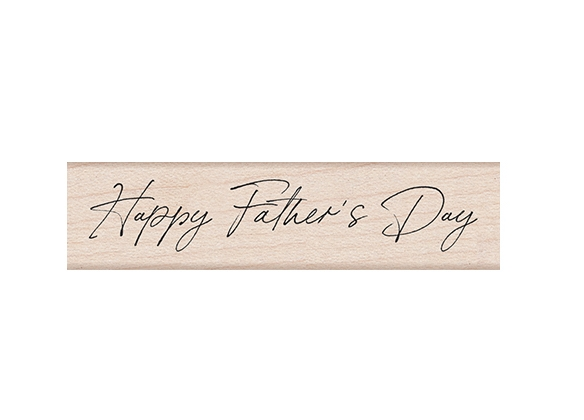 Hero Arts Rubber Stamp HANDWRITTEN FATHER'S DAY C6464 zoom image