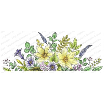 Impression Obsession Cling Stamp MIXED FLORALS 3259 LG