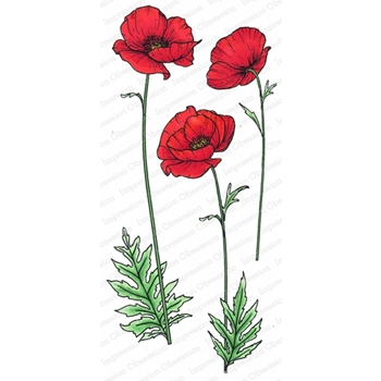 Impression Obsession Cling Stamp POPPY 3255 LG
