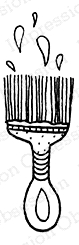 Impression Obsession Cling Stamp PAINTBRUSH B12355