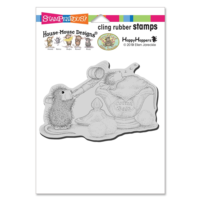 Stampendous Cling Stamp SLEEPY SURPRISE hmcp143 House Mouse zoom image