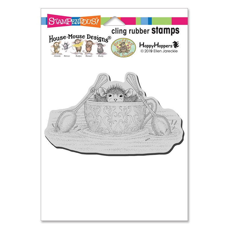 Stampendous, House Mouse Teacup Paddler Cling Stamp
