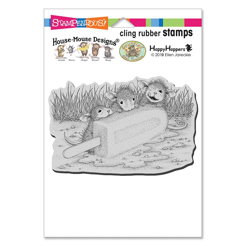 Stampendous Cling Stamp COOL TREAT hmcp142 House Mouse zoom image