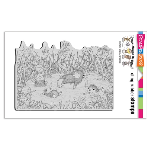 Stampendous, House Mouse Pool Party Cling Stamp