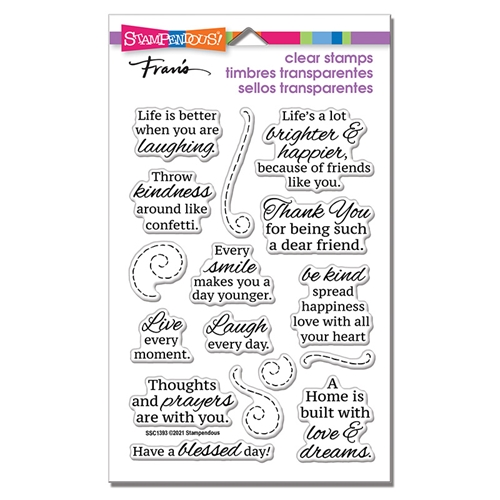 Stampendous Clear Stamps LAUGH EVERY DAY ssc1393 Preview Image