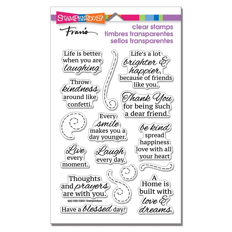 Stampendous Clear Stamps LAUGH EVERY DAY ssc1393 zoom image