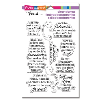 Stampendous Clear Stamps FRIENDS HUG ssc1394
