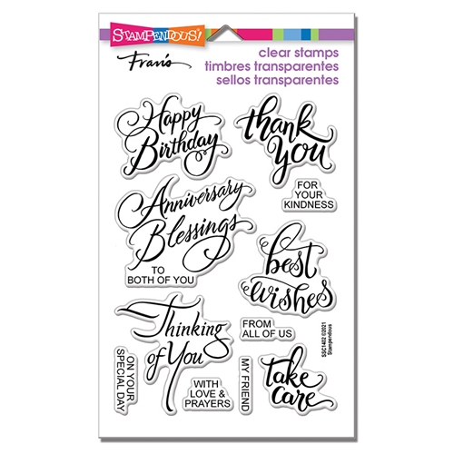 Stampendous Clear Stamps BRUSHED MESSAGES ssc1402 Preview Image
