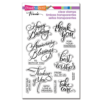 Stampendous Clear Stamps BRUSHED MESSAGES ssc1402