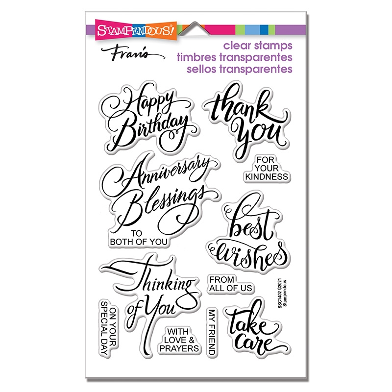 Stampendous Clear Stamps BRUSHED MESSAGES ssc1402 zoom image
