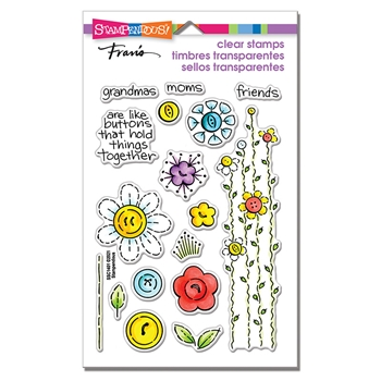 Stampendous Clear Stamps BUTTON BLOSSOMS ssc1401