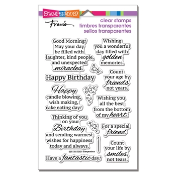 Stampendous Clear Stamps BIRTHDAY SMILES ssc1392