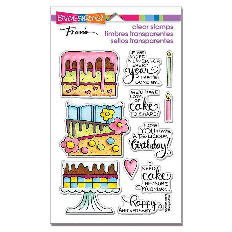 Stampendous Clear Stamps SLIM CAKE ssc1395 zoom image