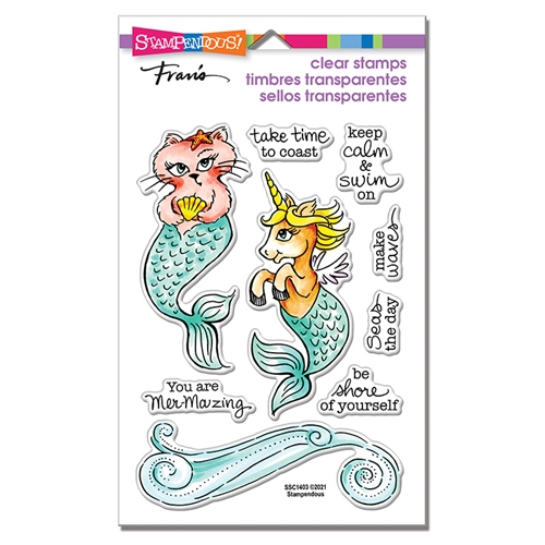 Stampendous Clear Stamps MERMAID PALS ssc1403 Preview Image
