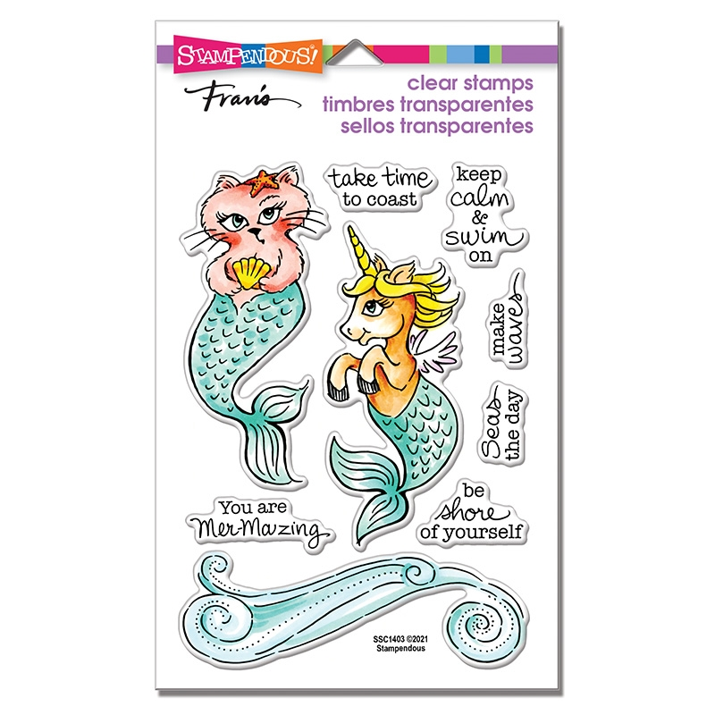 Stampendous Clear Stamps MERMAID PALS ssc1403 zoom image