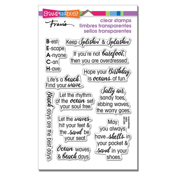 Stampendous Clear Stamps OCEAN SAYINGS ssc1397