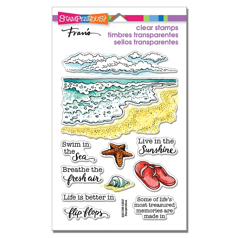 Stampendous Clear Stamps OCEAN FRAMES ssc1399 zoom image