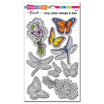 Stampendous DAISY COLLAGE Stamp and Die Set cld22