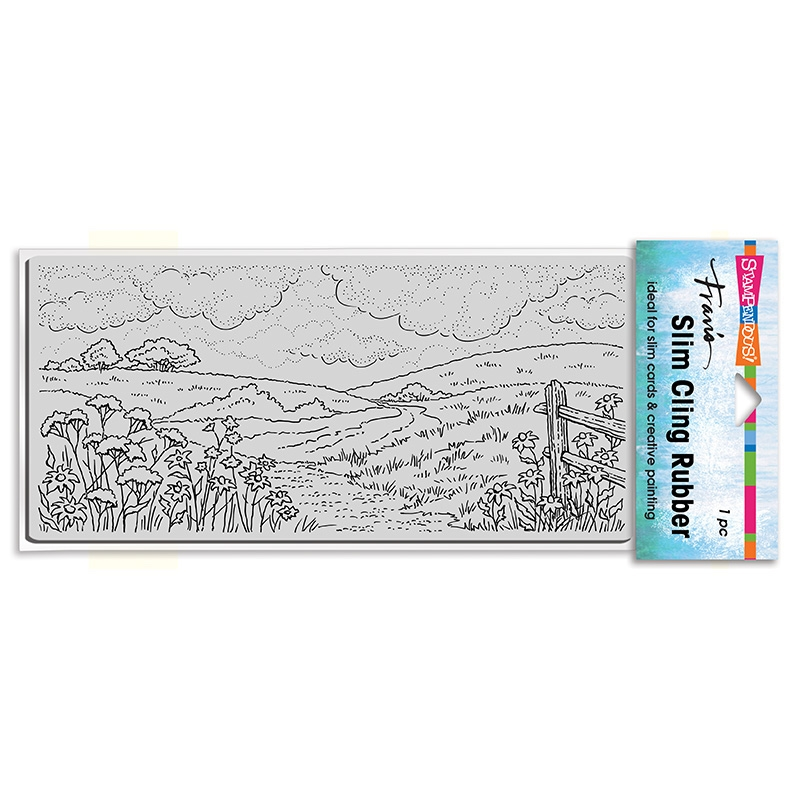 Stampendous Cling Stamp SLIM MEADOW csl07 zoom image