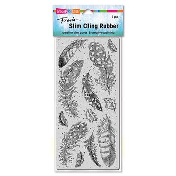Stampendous Cling Stamp SLIM FEATHERS csl08