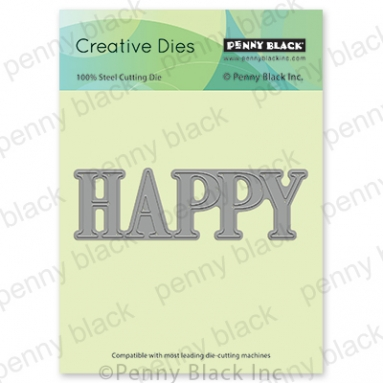 Penny Black HAPPY Thin Metal Creative Dies 51 642 Preview Image