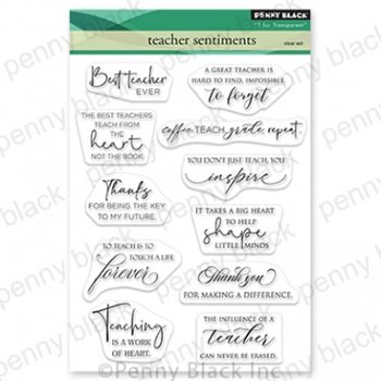 Penny Black Clear Stamps TEACHER SENTIMENTS 30 826