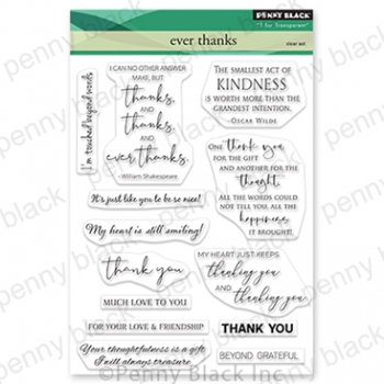 Penny Black Clear Stamps EVER THANKS 30 813