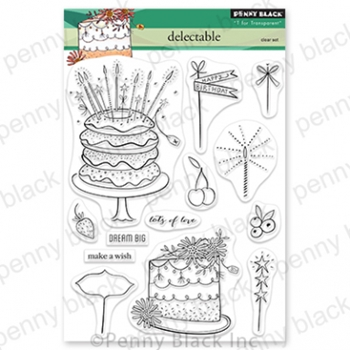 Penny Black Clear Stamps DELECTABLE 30 810