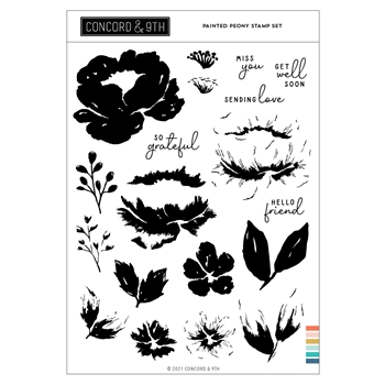 Concord & 9th PAINTED PEONY Clear Stamp Set 11091