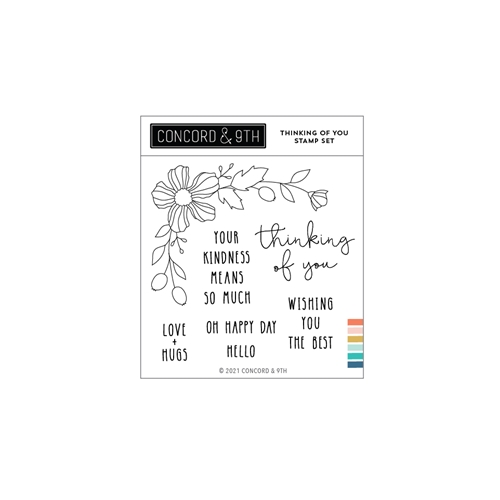 Concord & 9th THINKING OF YOU Clear Stamp Set 11095 Preview Image
