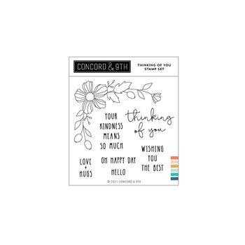 Concord & 9th THINKING OF YOU Clear Stamp Set 11095