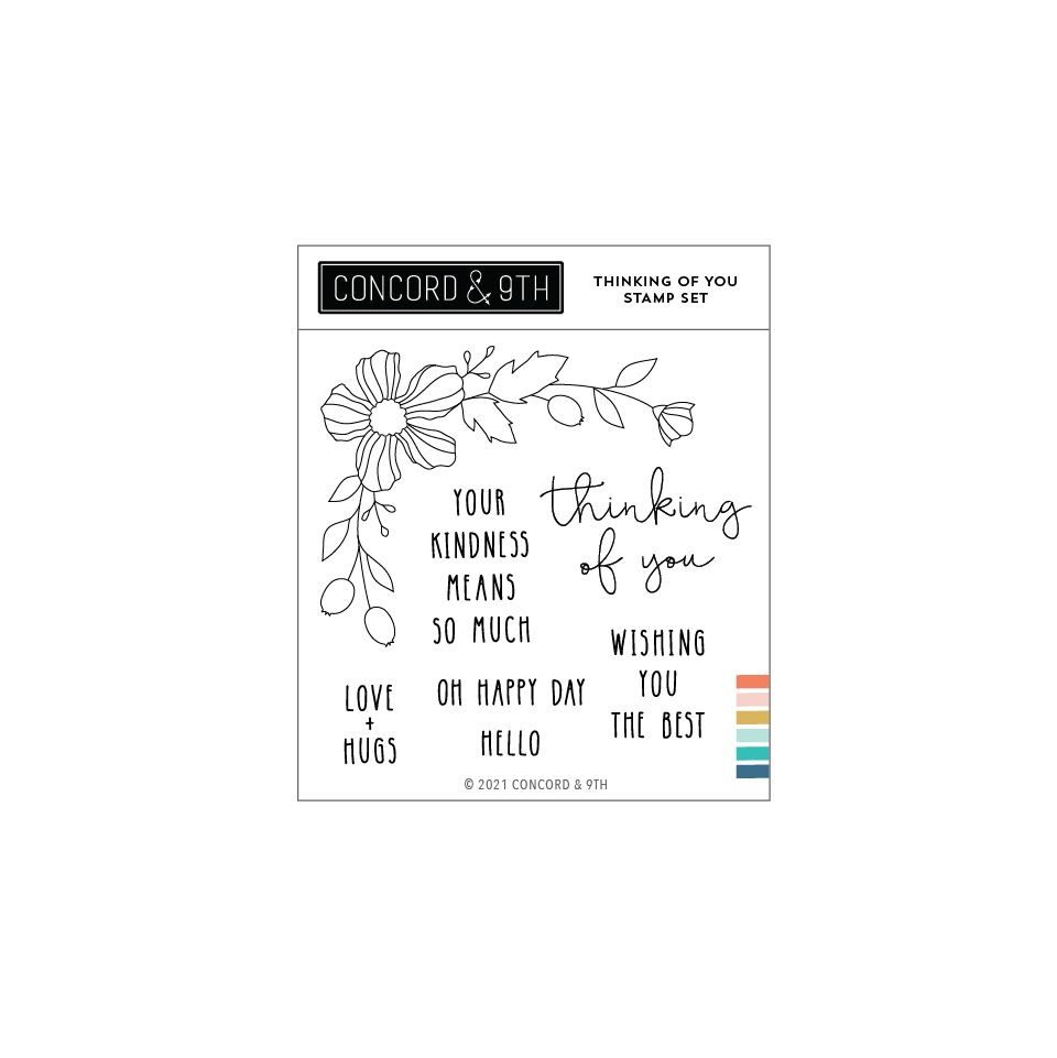 Concord & 9th THINKING OF YOU Clear Stamp Set 11095 zoom image