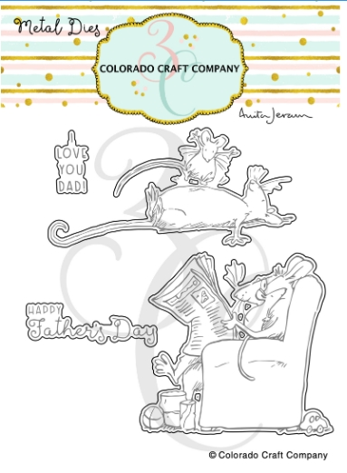 Colorado Craft Company For Dad Clear Stamp Set