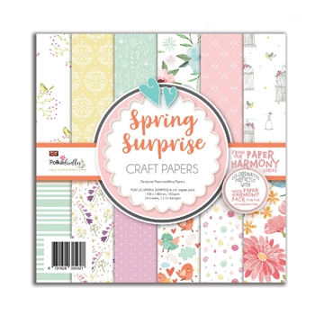 Polkadoodles SPRING SURPRISE 6 x 6 Paper Pack pd8125*