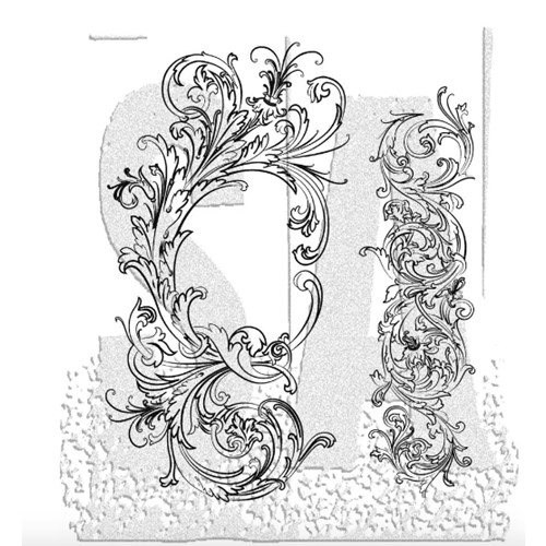 Tim Holtz Cling Rubber Stamps FABULOUS FLOURISHES CMS070 Preview Image