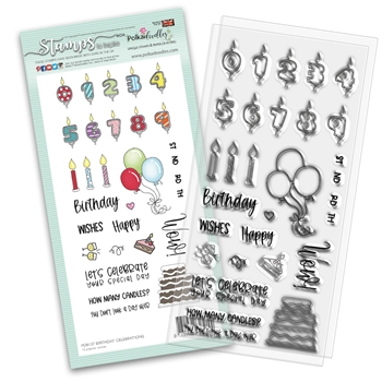 Polkadoodles BIRTHDAY CELEBRATIONS Clear Stamps pd8137*