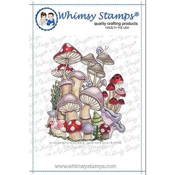 Whimsy Stamps MUSHROOM MASHUP Cling Stamp DDB0003a