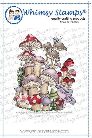 Whimsy Stamps MUSHROOM MASHUP Cling Stamp DDB0003a zoom image