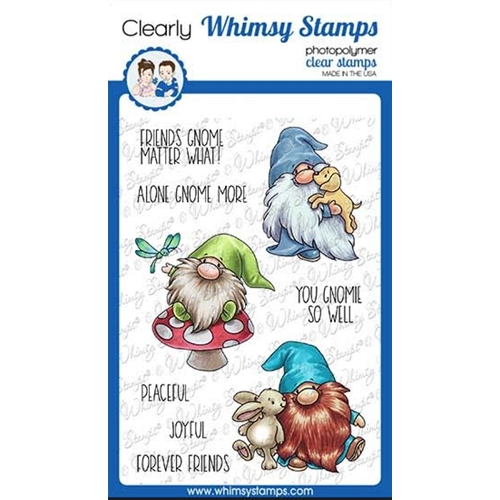 Whimsy Stamps GNOME FRIENDS Clear Stamps C1110a Preview Image
