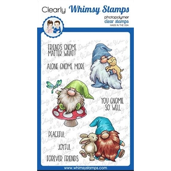 Whimsy Stamps GNOME FRIENDS Clear Stamps C1110a