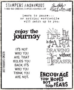 Tim Holtz Cling Rubber Stamps JUST THOUGHTS Stampers Anonymous cms078 zoom image