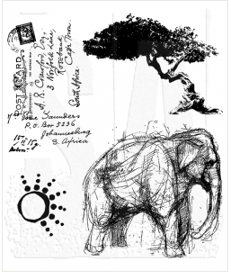 Tim Holtz Cling Rubber Stamps LIFE ADVENTURE Stampers Anonymous CMS077* Preview Image