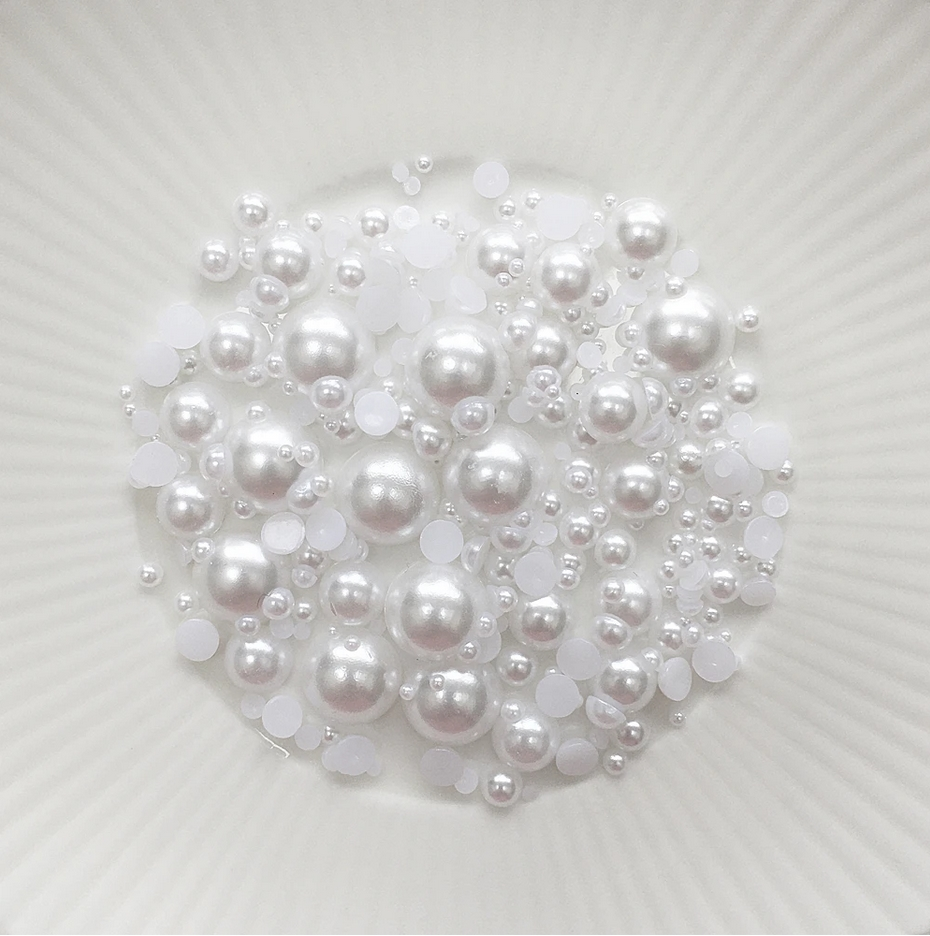 Little Things From Lucy's Cards Pearls CHUNKY SOFT SNOWBALL lbp29 zoom image
