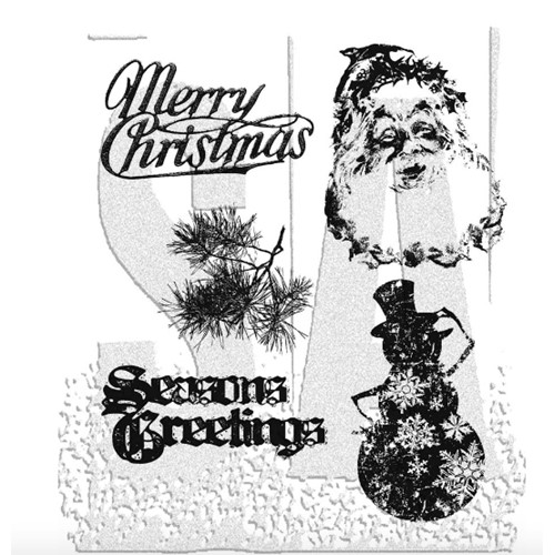 Tim Holtz Cling Rubber Stamps RETRO HOLIDAY cms067 Preview Image