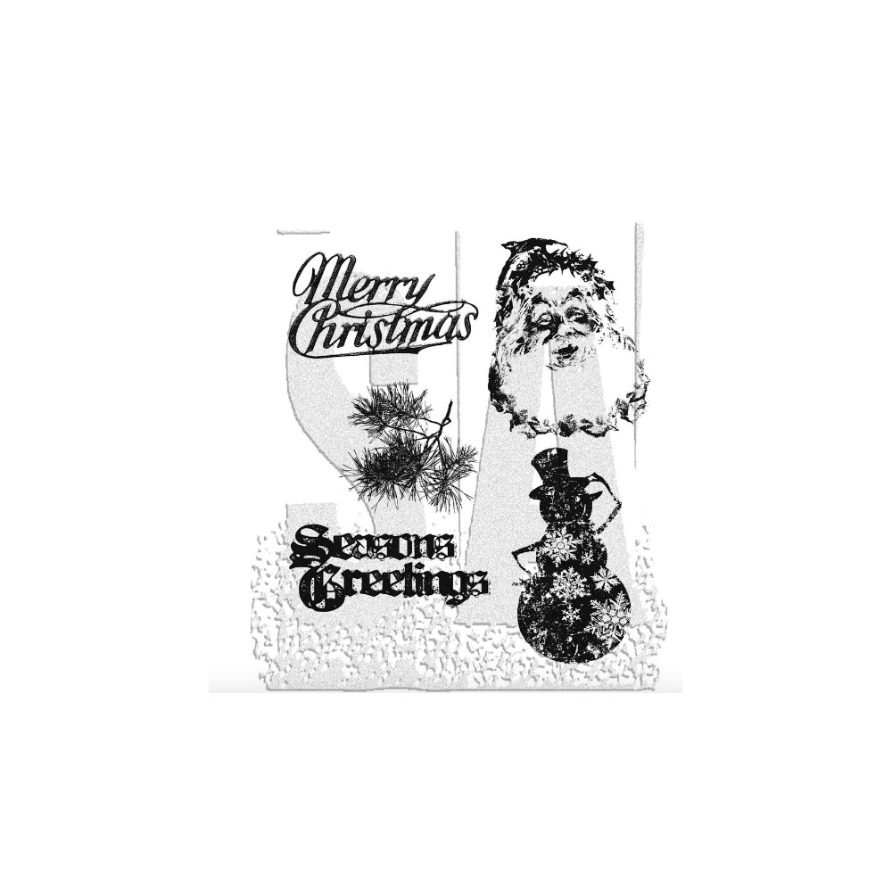 Tim Holtz Cling Rubber Stamps RETRO HOLIDAY cms067 zoom image