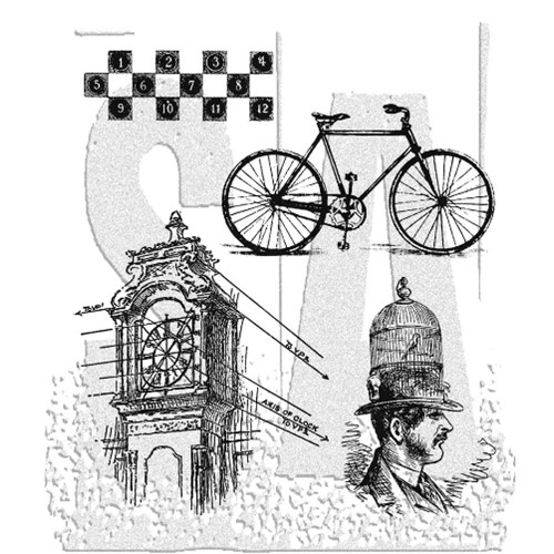 Tim Holtz Cling Rubber Stamps PEN AND PENCIL CMS072  Preview Image