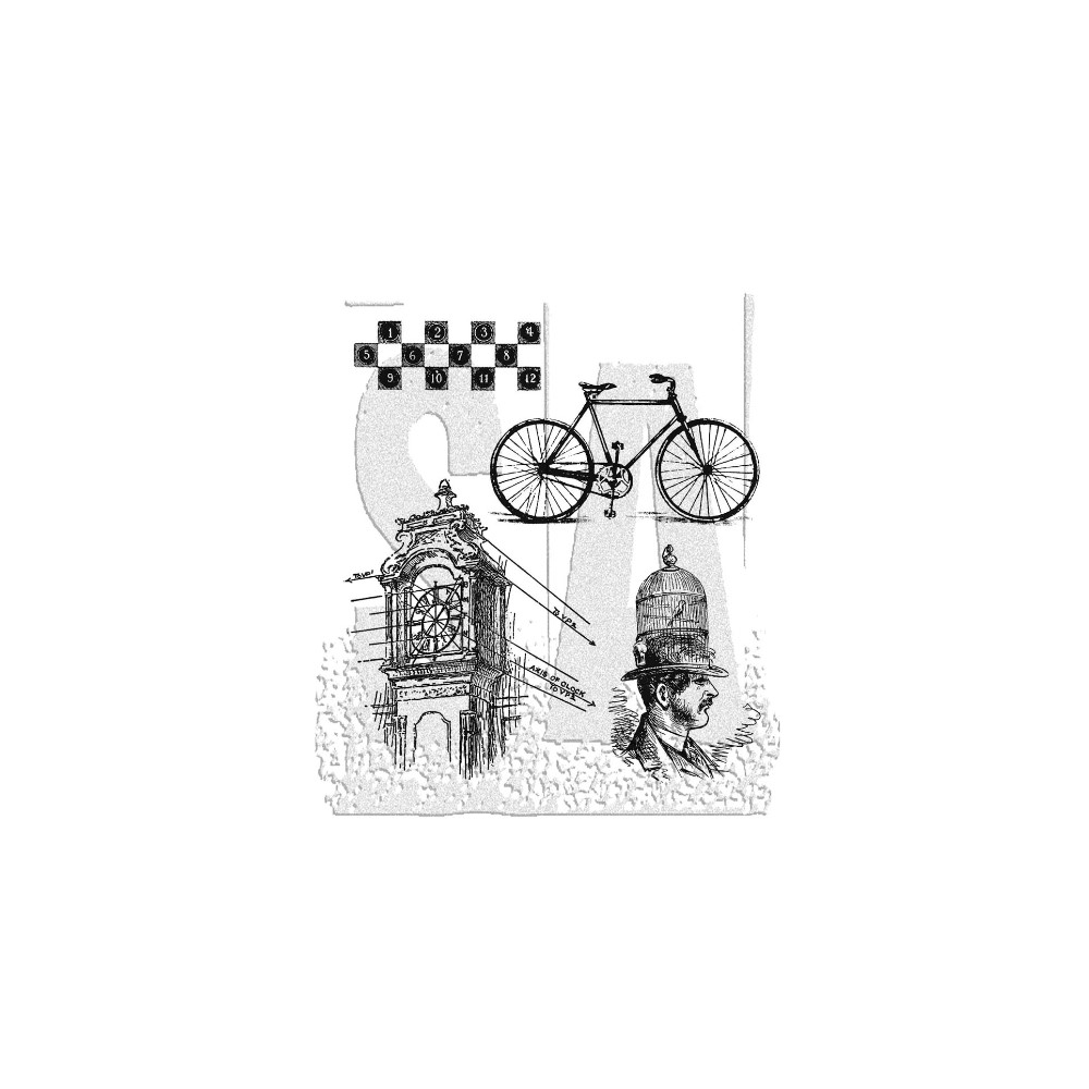 Tim Holtz Cling Rubber Stamps PEN AND PENCIL CMS072  zoom image