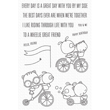 My Favorite Things WHEELIE GREAT FRIEND Clear Stamps cs551