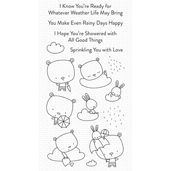 My Favorite Things SPRINKLING YOU WITH LOVE Clear Stamps cs558
